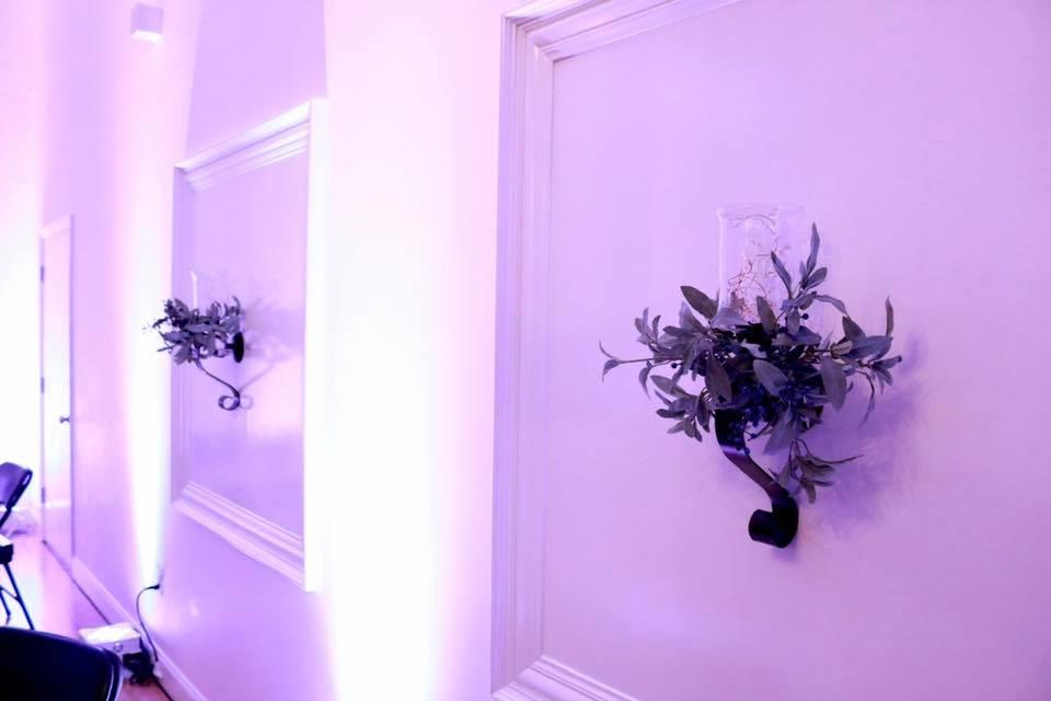 Floral Sconces - CenterStage Events