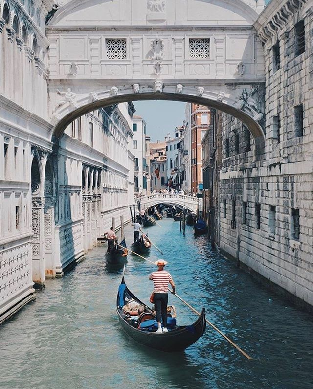 Venice is at the top of my bucket list. Right behind island hoping in Greece. -@travelandleisure