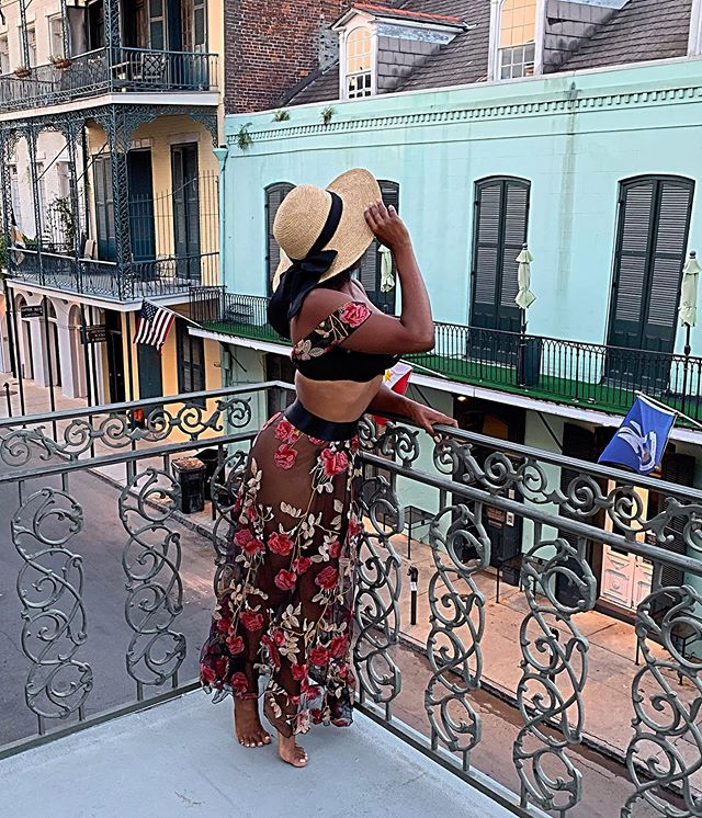 """This hat brings out my alter ego: """"Ida Claire."""" She's a feisty southern belle who loves to take pantiless photos on her balcony. """