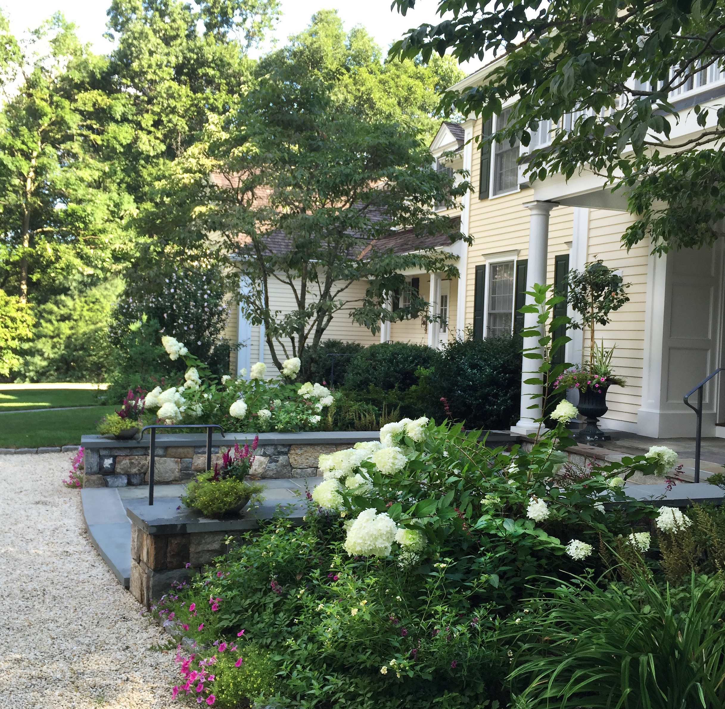 Backyard landscape design Westchester County, NY