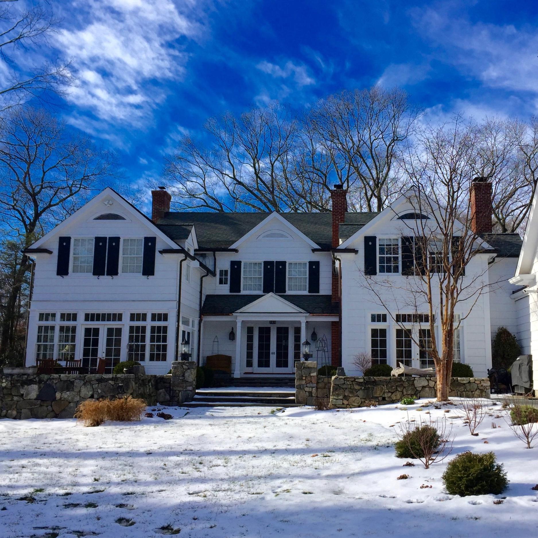 Winter Front Yard Landscape Design