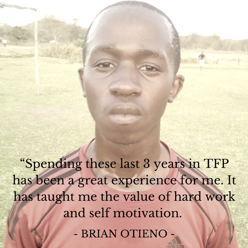 Brian Otieno, Two Feet Project Youth