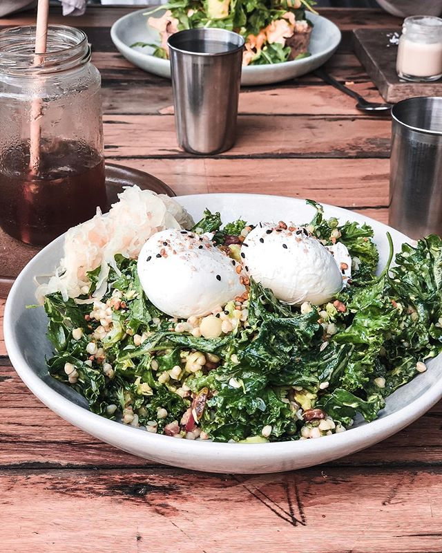 "BYRON EATS 🌟 Back in one of my favourite places - Byron. I love the vibe here... though it's busier than it used to be, there's still a wonderful celebration of fresh, local produce made with love - and this buckwheat, kale, sauerkraut & poached egg number from one of my favourite Byron brunch sports @bayleafcafe is no exception. Their cold drip coffee is also spot on👌🏼 . I love that there is a real awareness of physical and mental health that you can see in the local businesses. A bit of a different attitude to work than in big cities which is a welcome change. I love @bendebyron for all things yoga & barre - it's a beautiful space where really feel the focus on the physical as a tool to nourish and enrich your mental health, rather than just to ""workout"". . More of my favourites to come ❤️But while I'm here I'm trying to actively enjoy it, mindfully and in the moment rather than focusing too much on posting 🙏🏼 #zogood #byronbayfood #mindfulness"