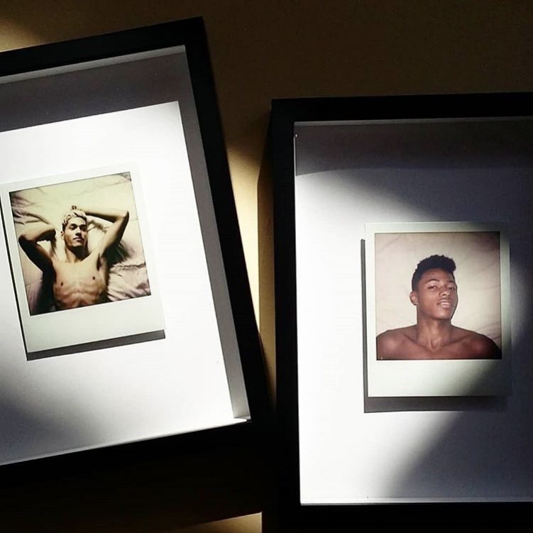 Two of my Polaroid works from the exhibition.