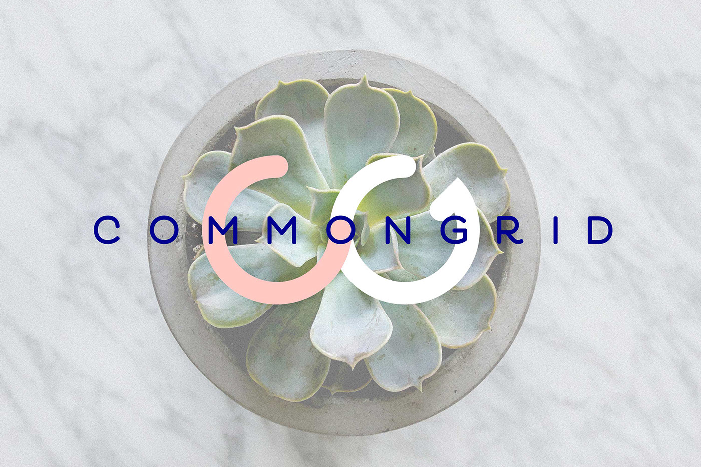 CommonGrid Brand Identity - The name CommonGrid is inspired by the elemental meaning of each word; belonging to or shared by a group and a network of uniformity.Drawing from these two  themes, our logotype speaks to our namesake and our design beliefs.