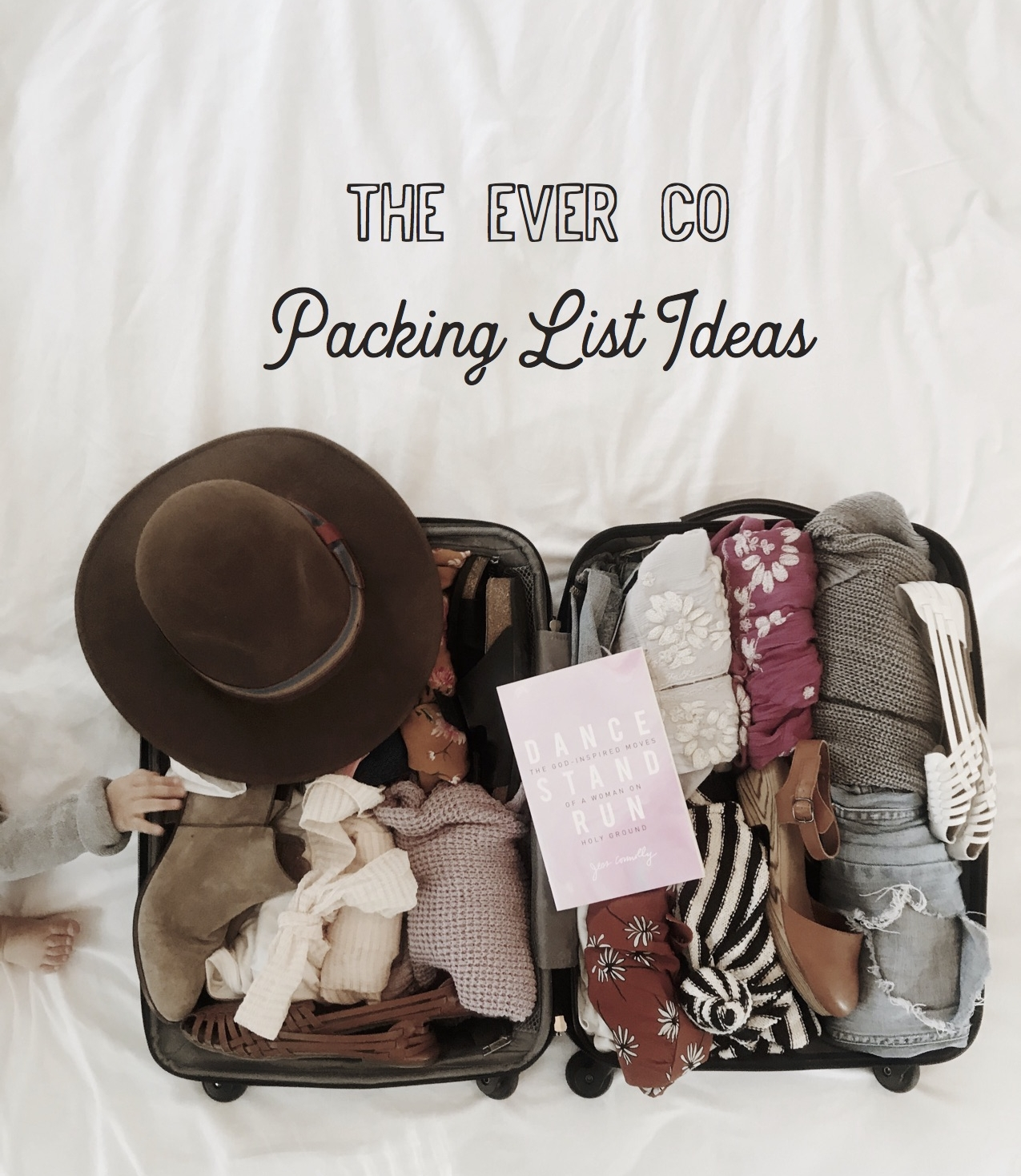 the ever co packing list luggage flat lay