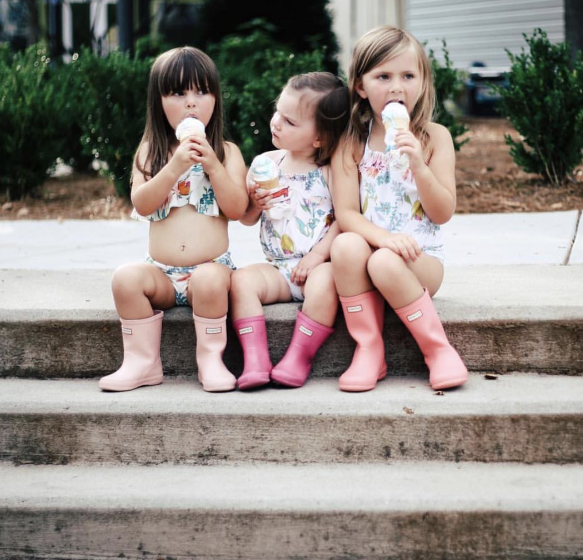 Ice Cream cones with the gorgeous girls of  @jlgarvin