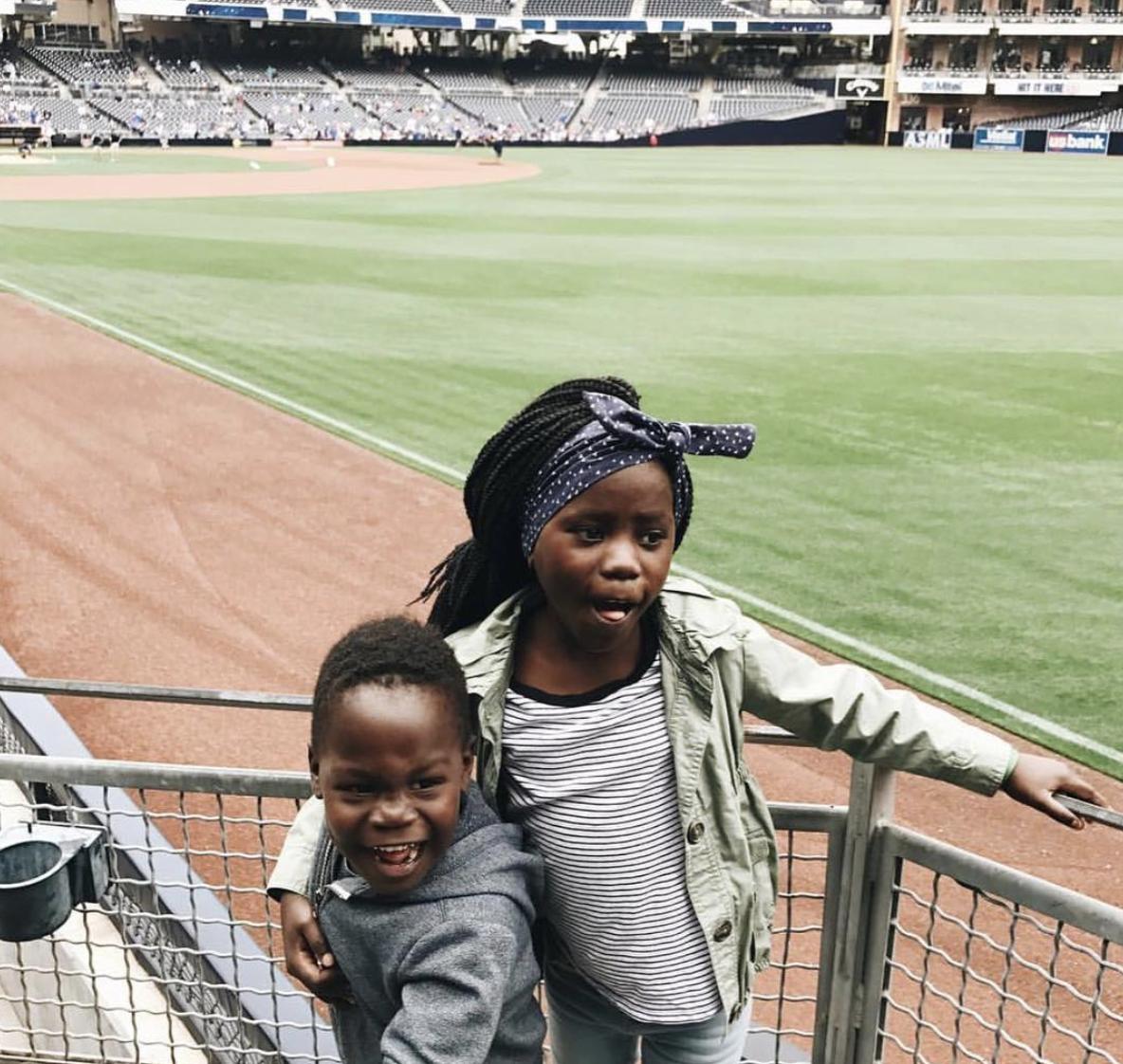 Baseball games with the cutest kids of @graceandsalt