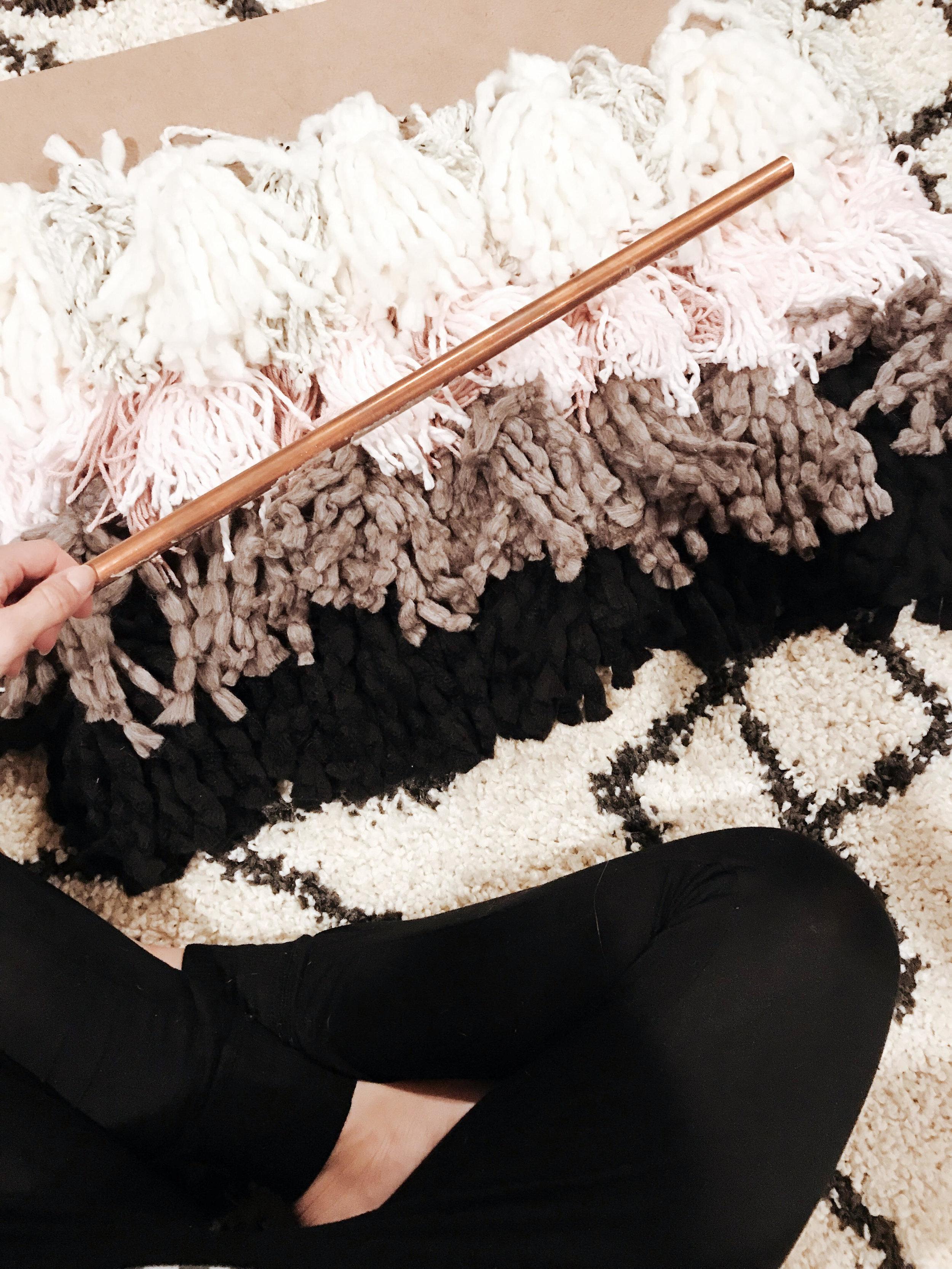 diy faux weaving