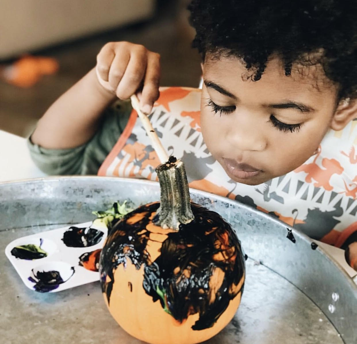 Pumpkin painting  via Brittney McNutt