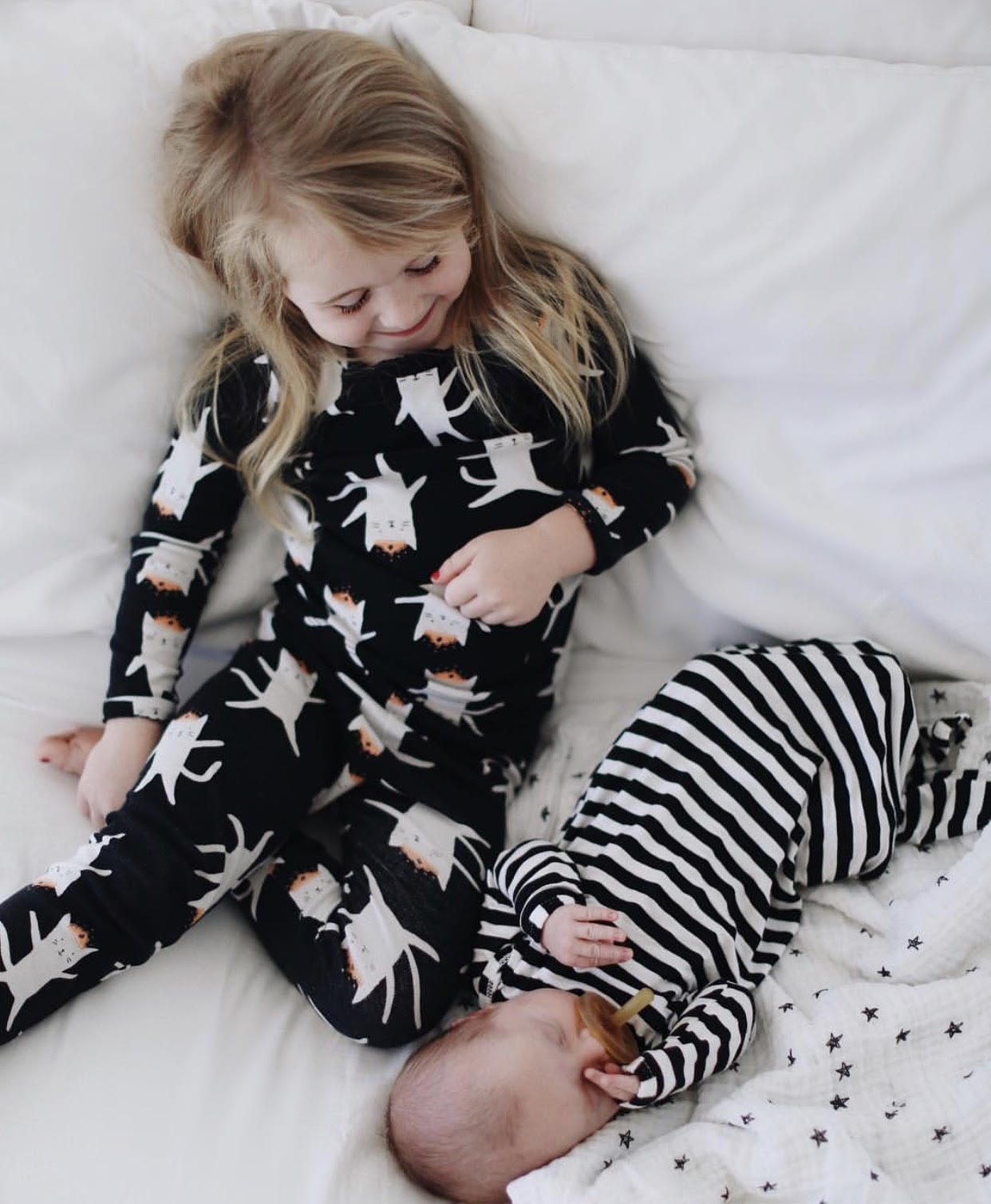Sweetest Halloween jammies cuddles  via Calli Fox