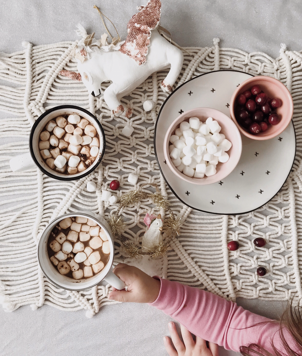 We've loved sipping hot cocoa and stringing cranberries this season too!