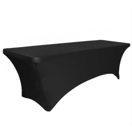Black Table Cover 1.8m - $25.00