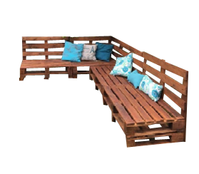 Pallet Lounge - POA (5 Pieces Pictured)