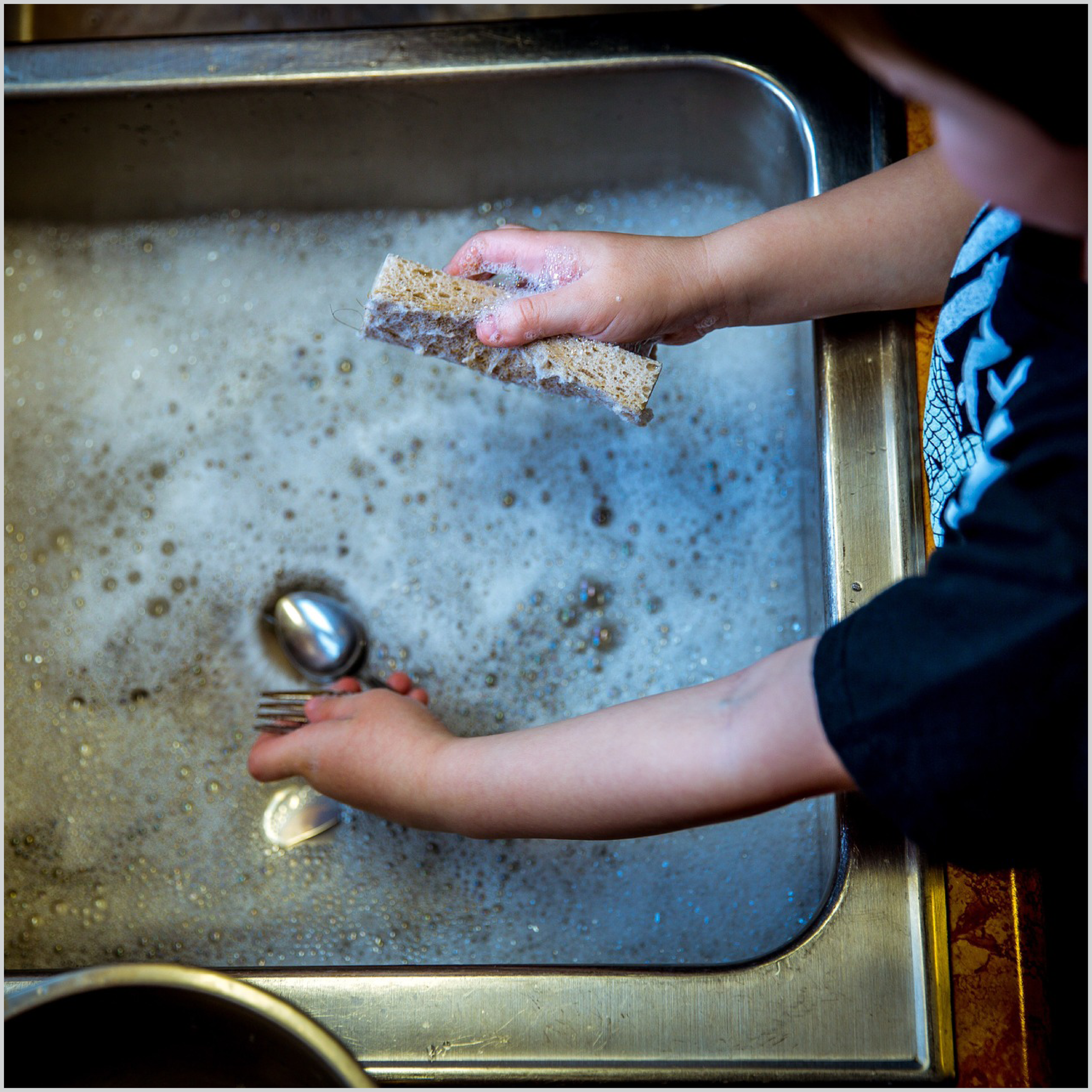 Help wash the dishes after dinner