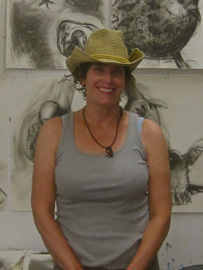 Mari Renwick in the studio.