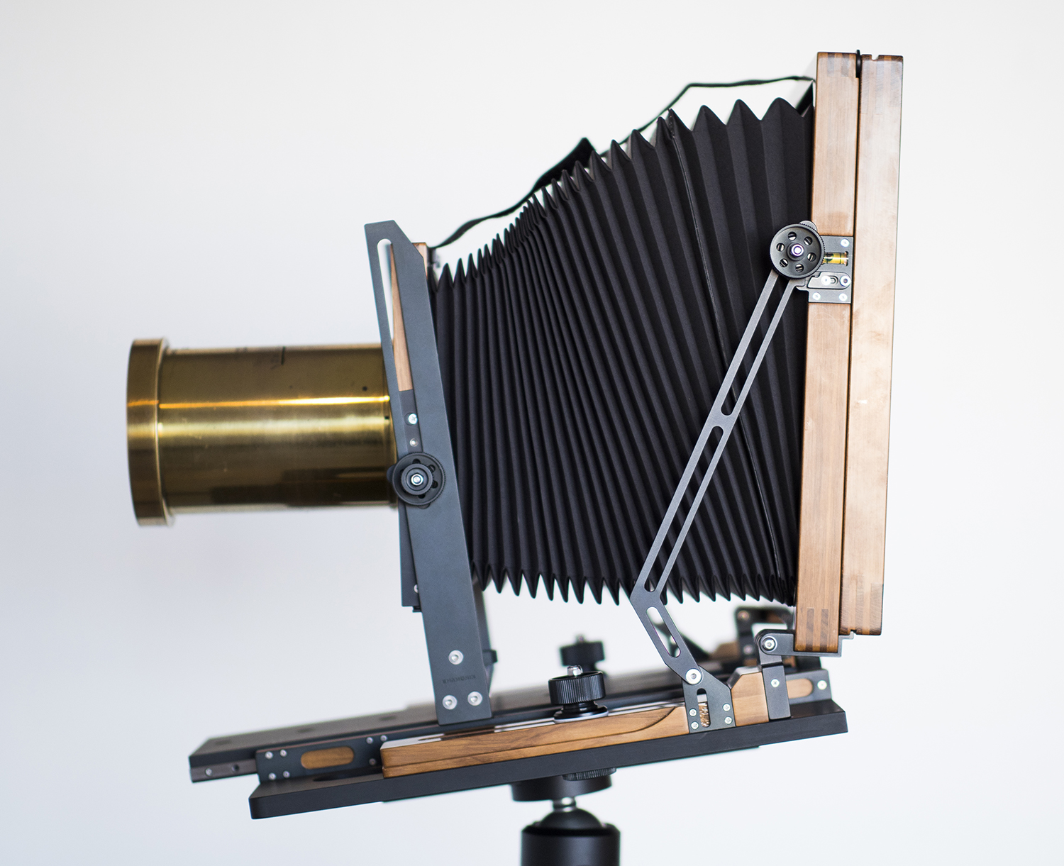 Large Format Camera with Antique Lens