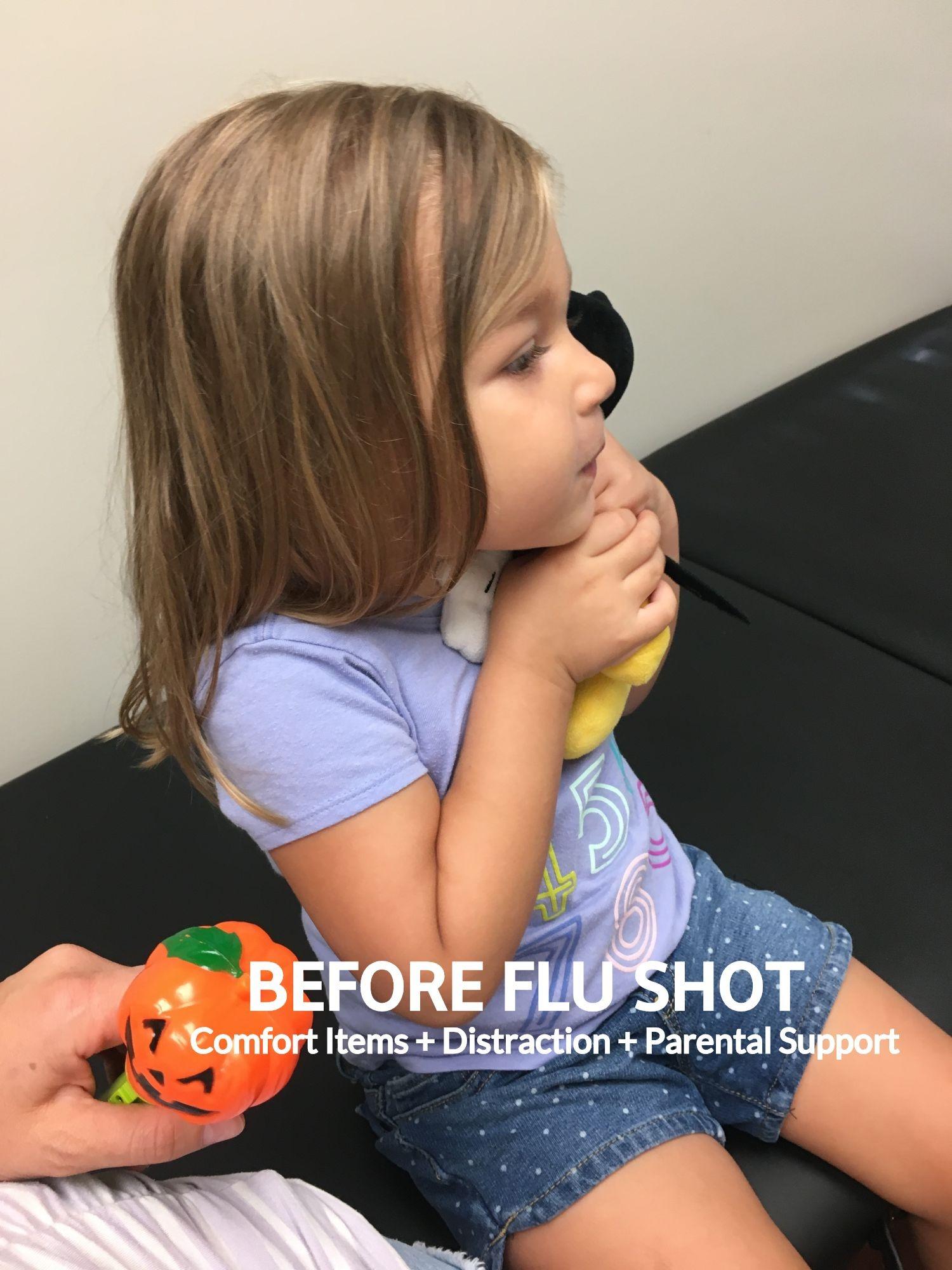 Before Flu Shot #flushot #flushotsupport #childlife #childlifespecialist #kidscoping #needlephobia #supportingkids #proceduralsupport #howtohelpkidsforflushot #flushotsupport #scaredofneedles #scaredofshots