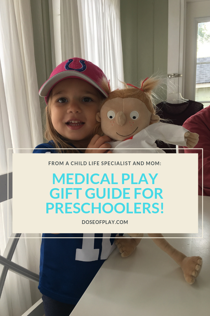 Medical Play Gift Guide for Preschoolers #medicalplay #doseofplay #surgeryplay #surgery #doctorplay #giftguide #preschoolers #medicaltoy #surgerydoll #dollplay #pretendplay #learningthroughplay #giftguideforpreschoolers