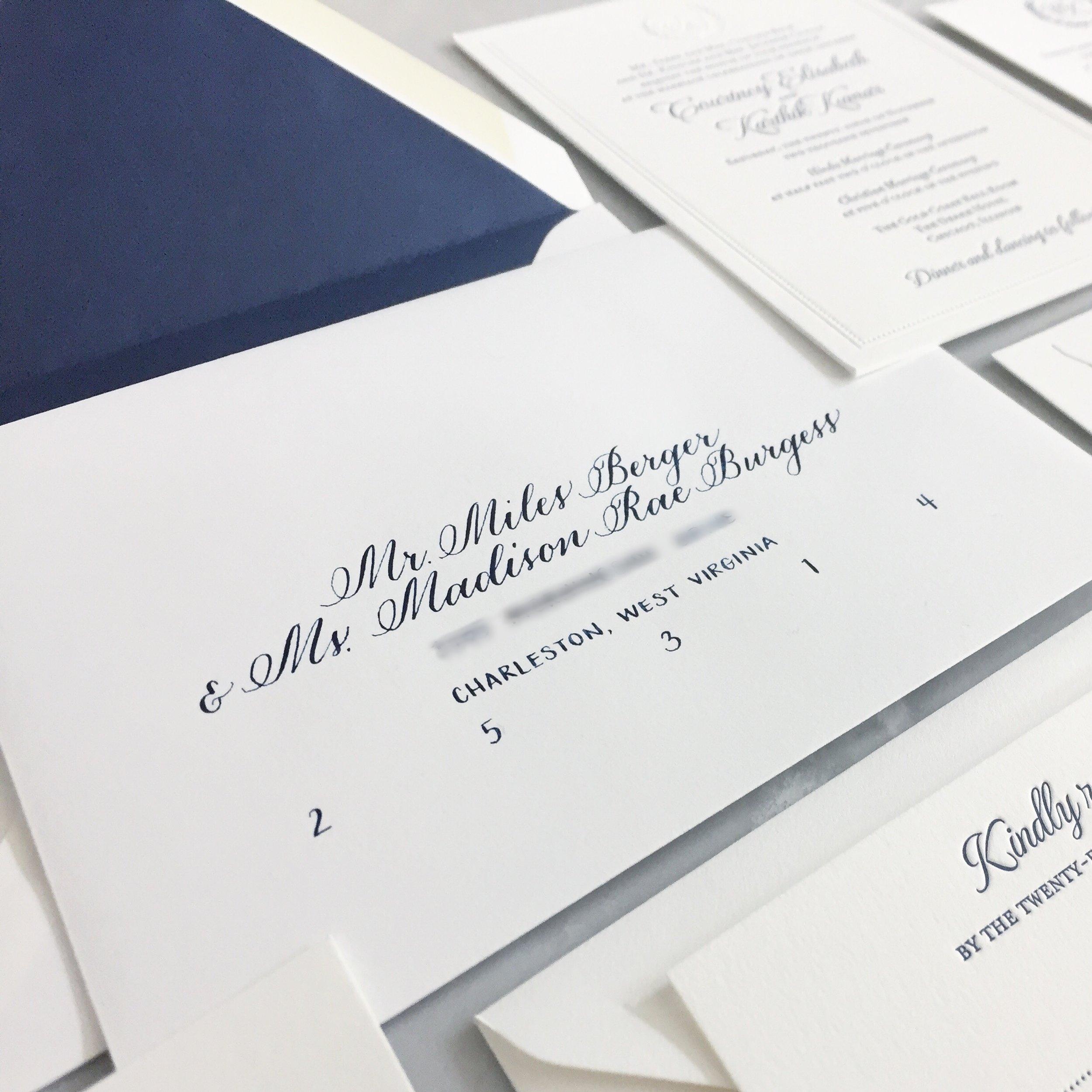 envelope calligraphy - Outer EnvelopesInner EnvelopesResponse EnvelopesReturn Addresses