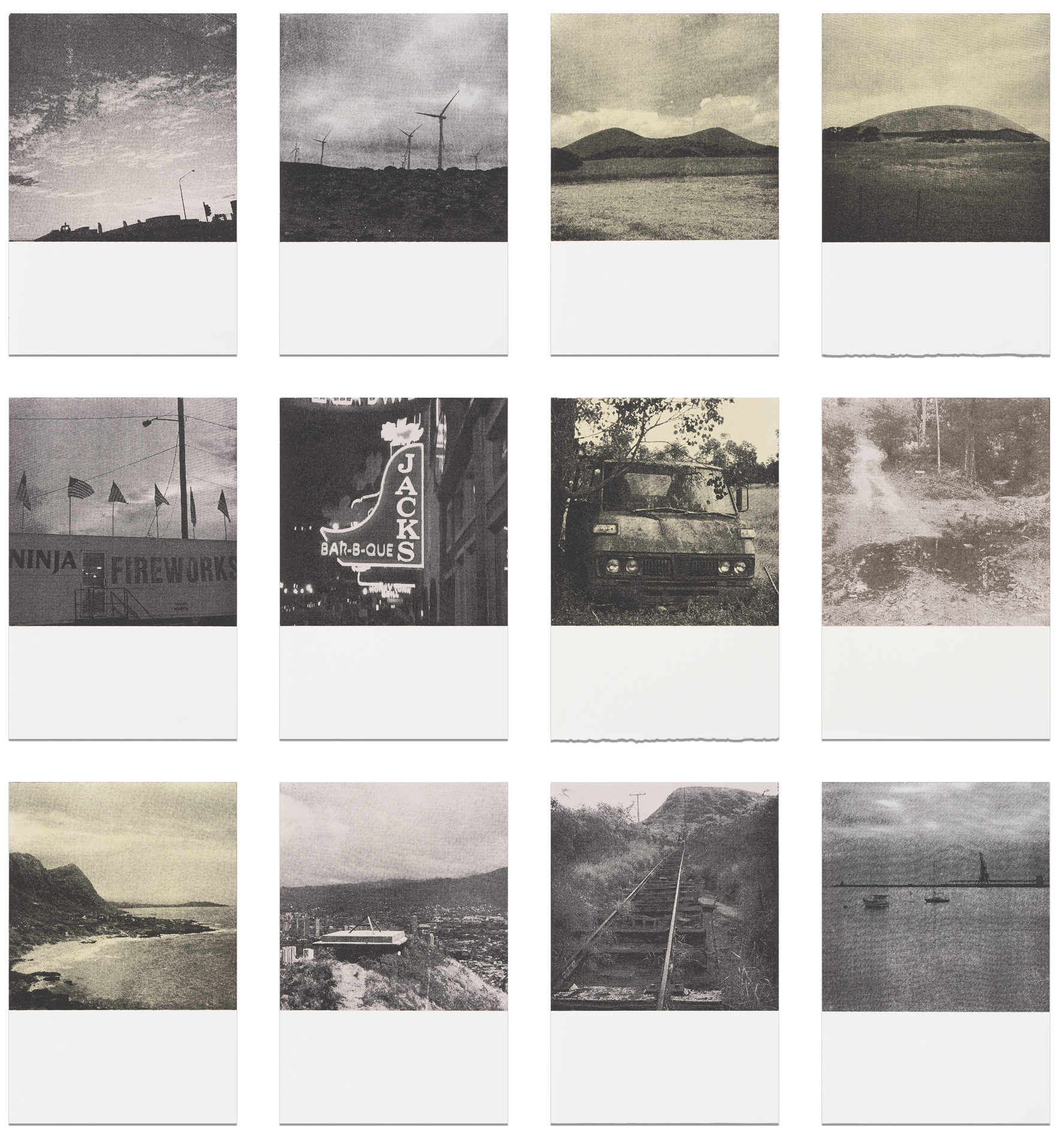 There and back again , screen prints on paper, 62.5cm (w) x 58cm (h), 2017  Finalist, Fremantle Print Prize, 2017  Photo by Brenton McGeachie