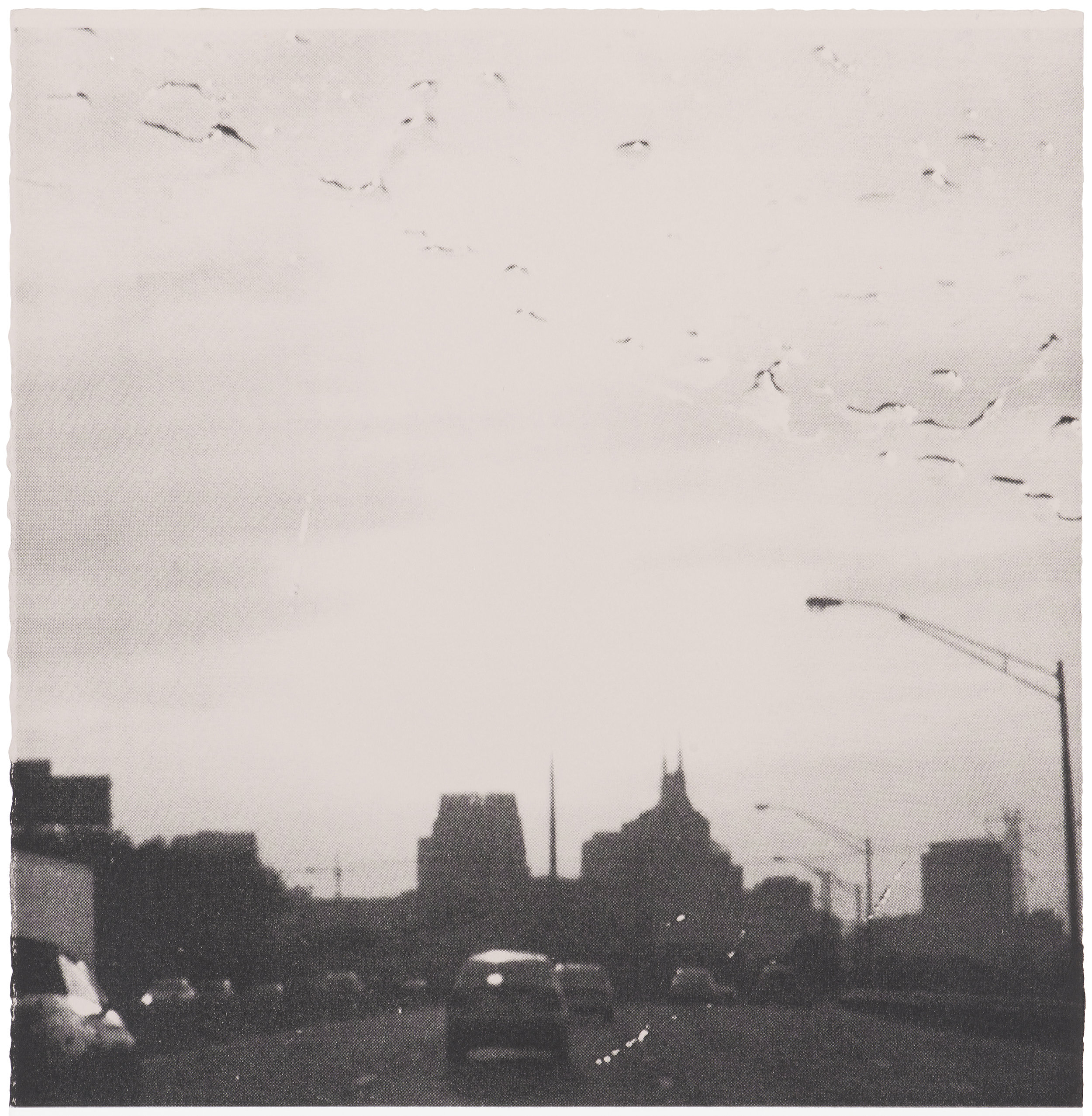 Driving in to Nashville , two colour screen print on paper, detail, 50cm (w) x 75cm (h), 2017  Photo by Brenton McGeachie
