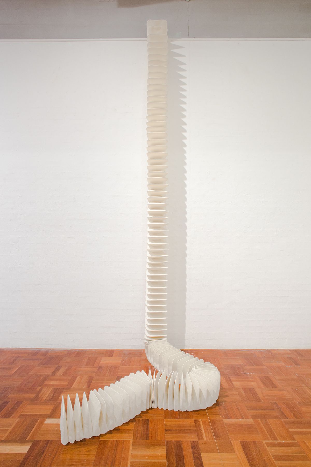 Jemima Parker,  undefined object II , 2012, hand-printed calico, sewing thread, dimensions variable Photo: Stuart Hay, ANU Photography