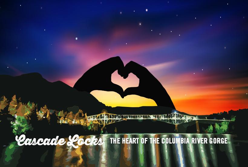 Original Art by  Cascade Locks Tourism