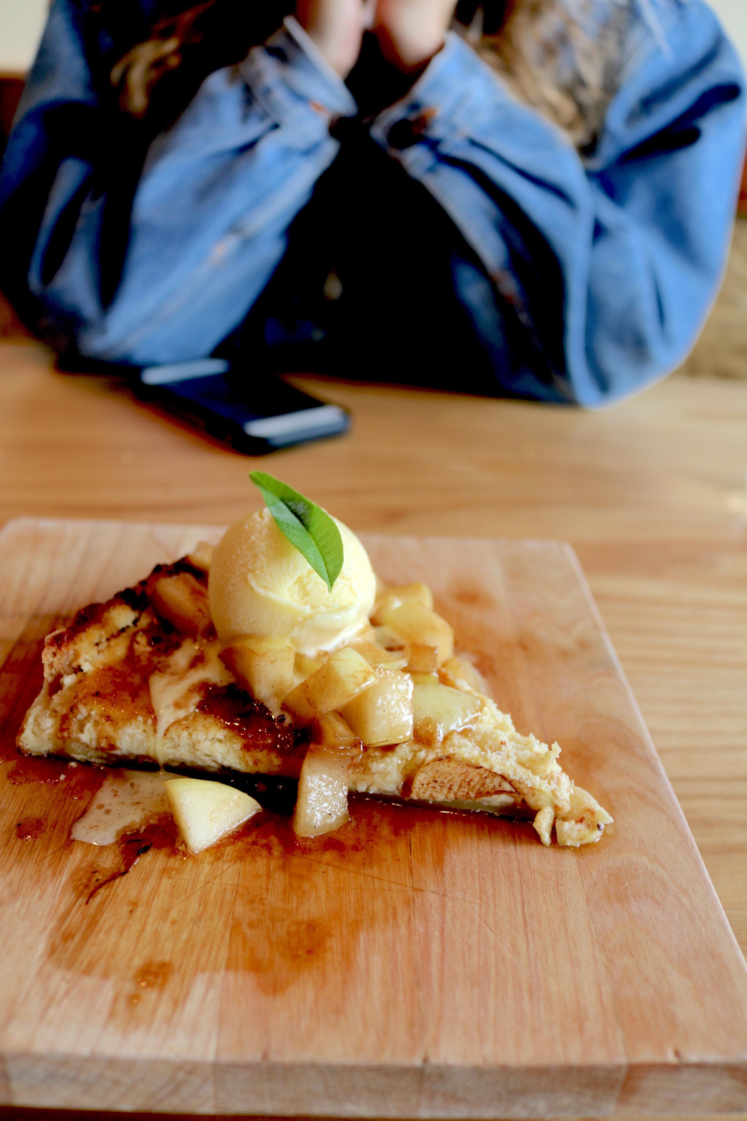 Apple & Goat Cheese Tart.