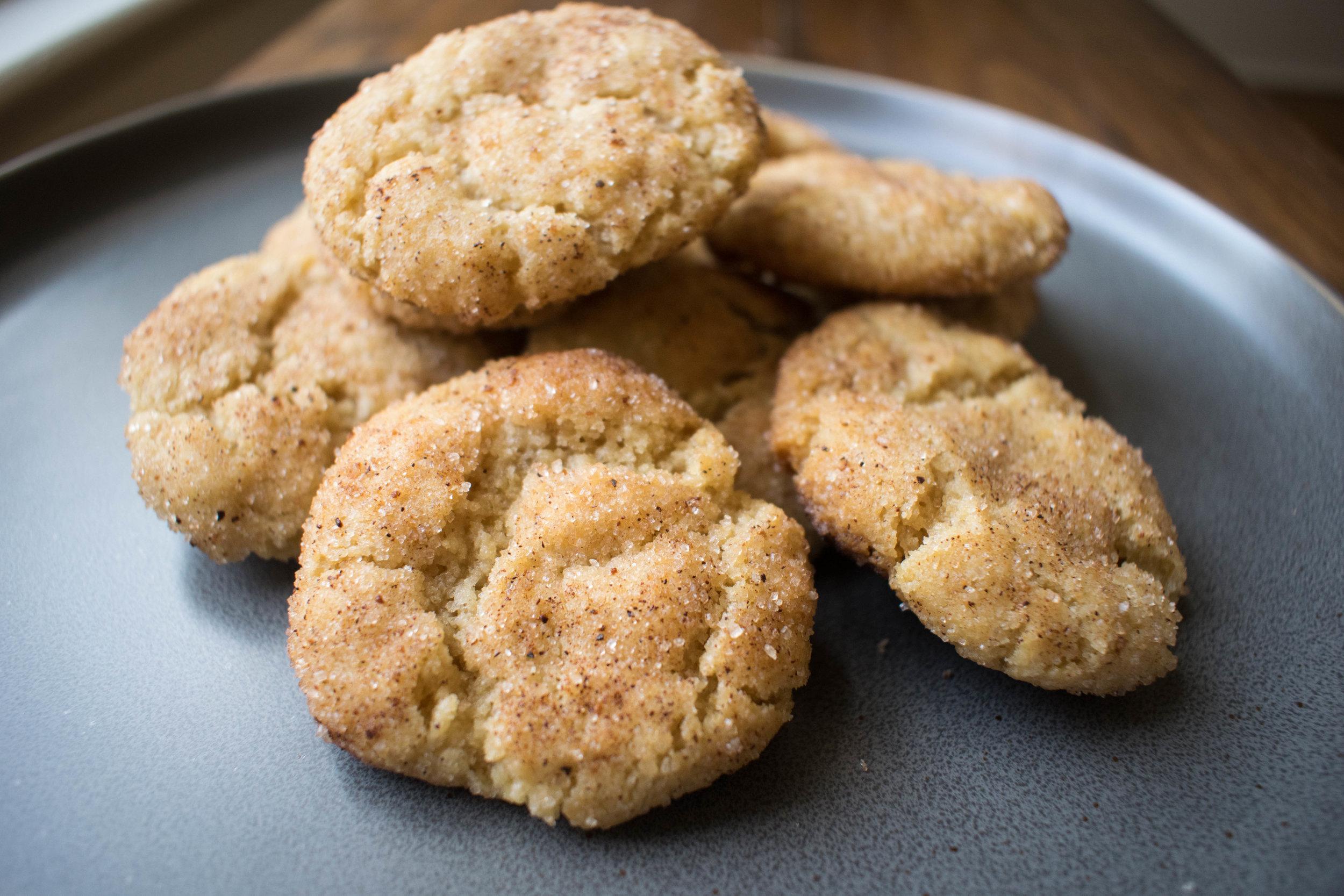 Vegan Nutmeg Snickerdoodle Cookies