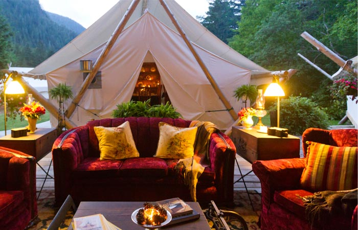 Clayoquot Wilderness Resort, best glampsites, best fall glamping, best camping sites USA