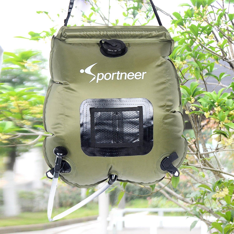best solar shower, outdoor solar showers, DIY solar shower, best camping shower, sportneer camping shower, sportneer solar shower