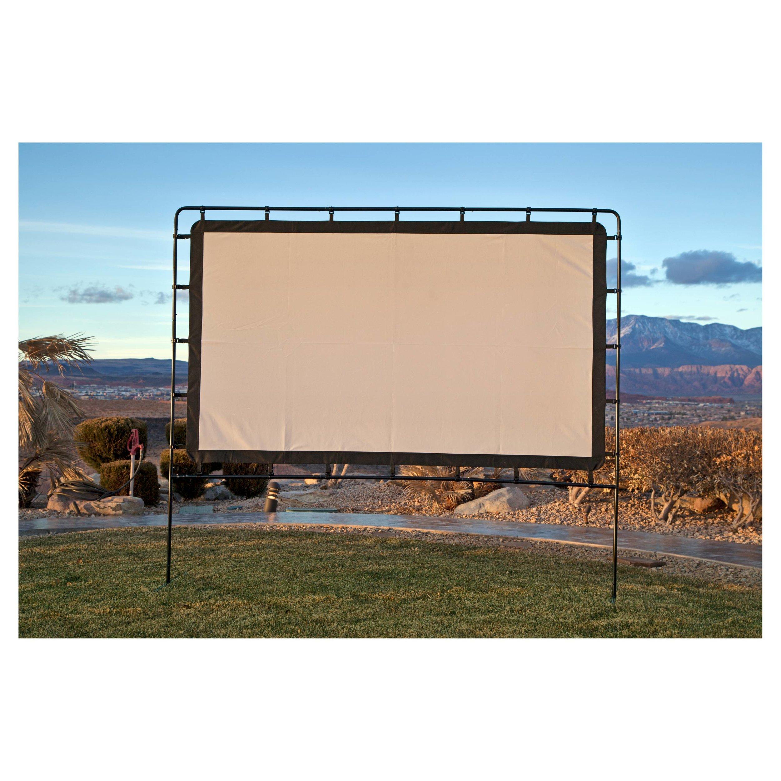 outdoor movie screen, outdoor projector screen, large outdoor movie screen, portable outdoor movie screen, camp chef outdoor movie screen,