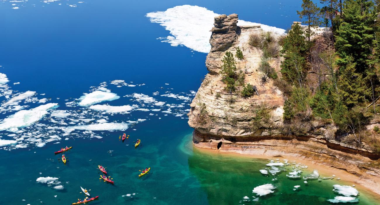 Pictured Rocks National Lakeshore, Pictured Rocks National Lakeshore camping, Pictured Rocks kayaking, best Michigan camping, camping spots in Michigan