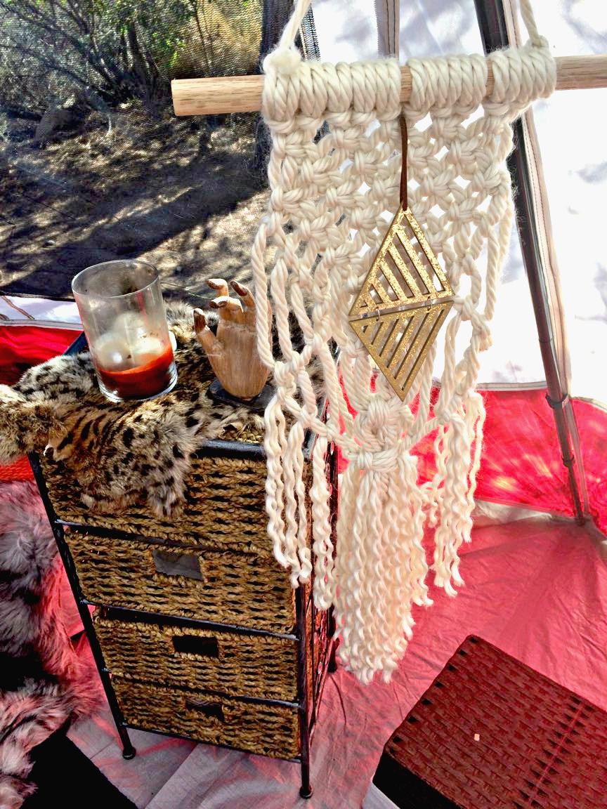diy macrame, diy decor, diy camping decor, handmade camping decor