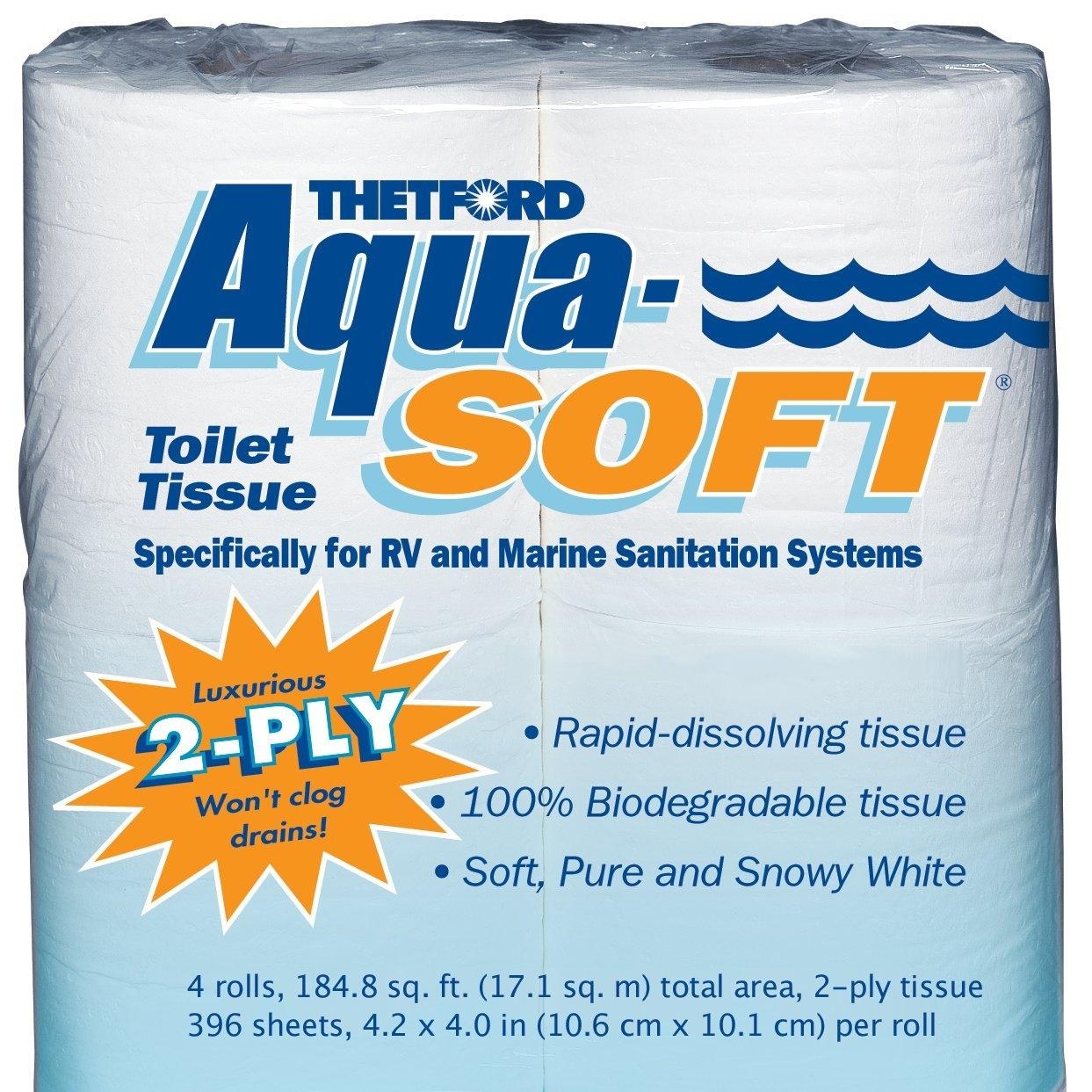 Aqua-Soft Biodegradable Toilet Tissue  -- $8.68