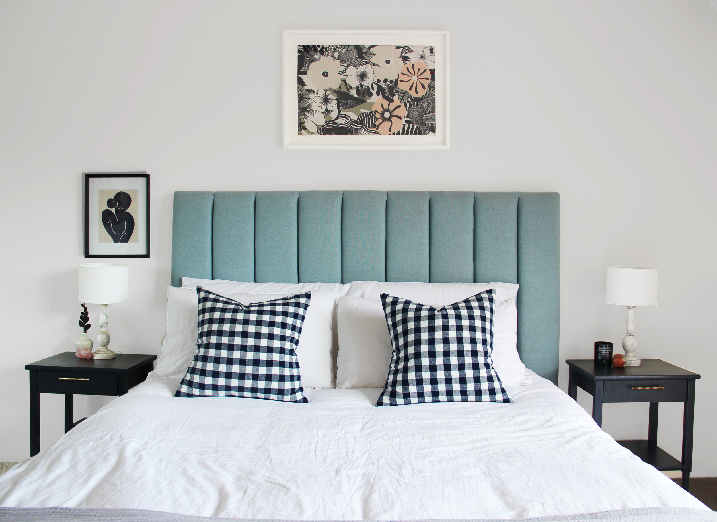 Pull out an accent colour from elements already existing in your room.