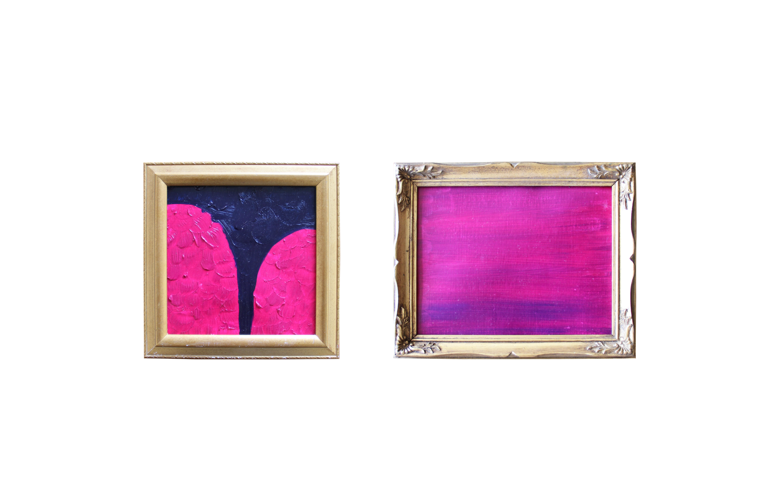 ARTWORKS CREATED BY YOURS TRULY, AND MOUNTED IN SECOND HAND FRAMES.