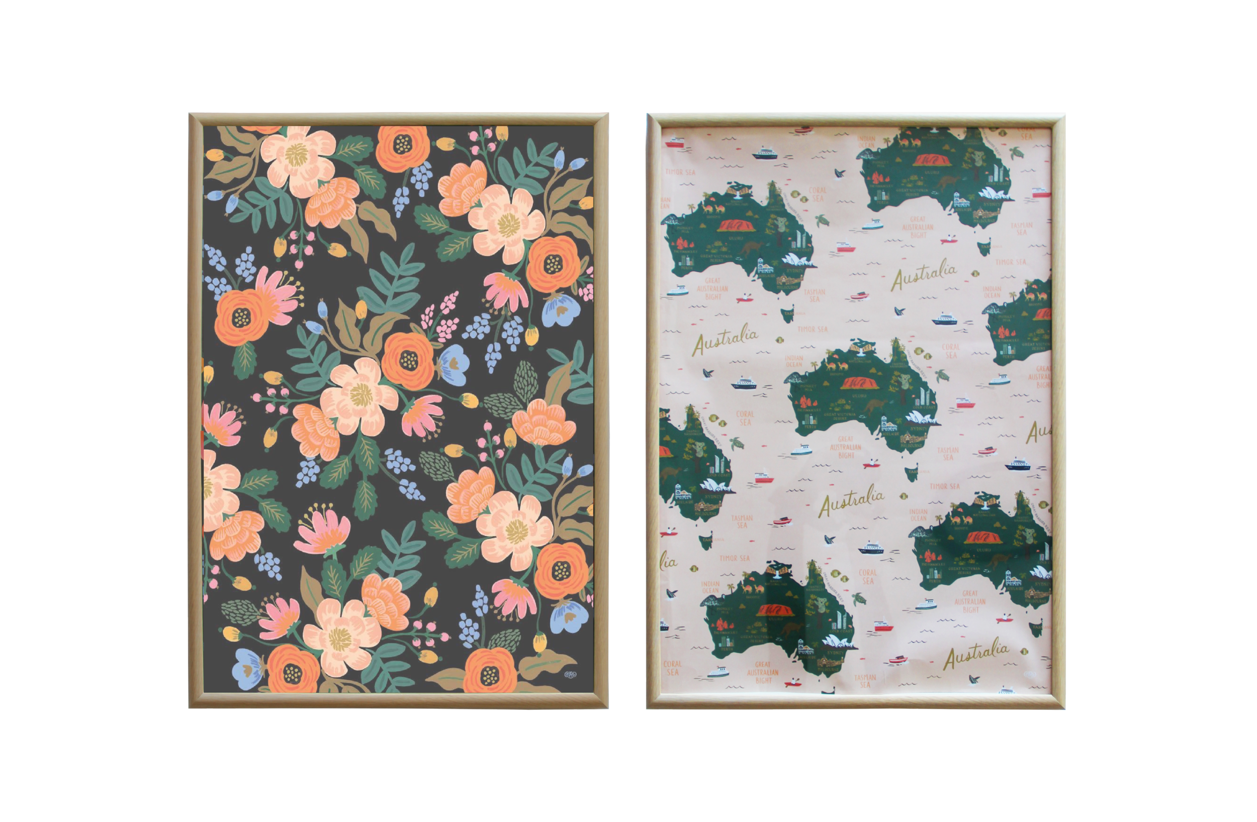 FRAMED GIFT WRAP BY RIFLE PAPER & CO