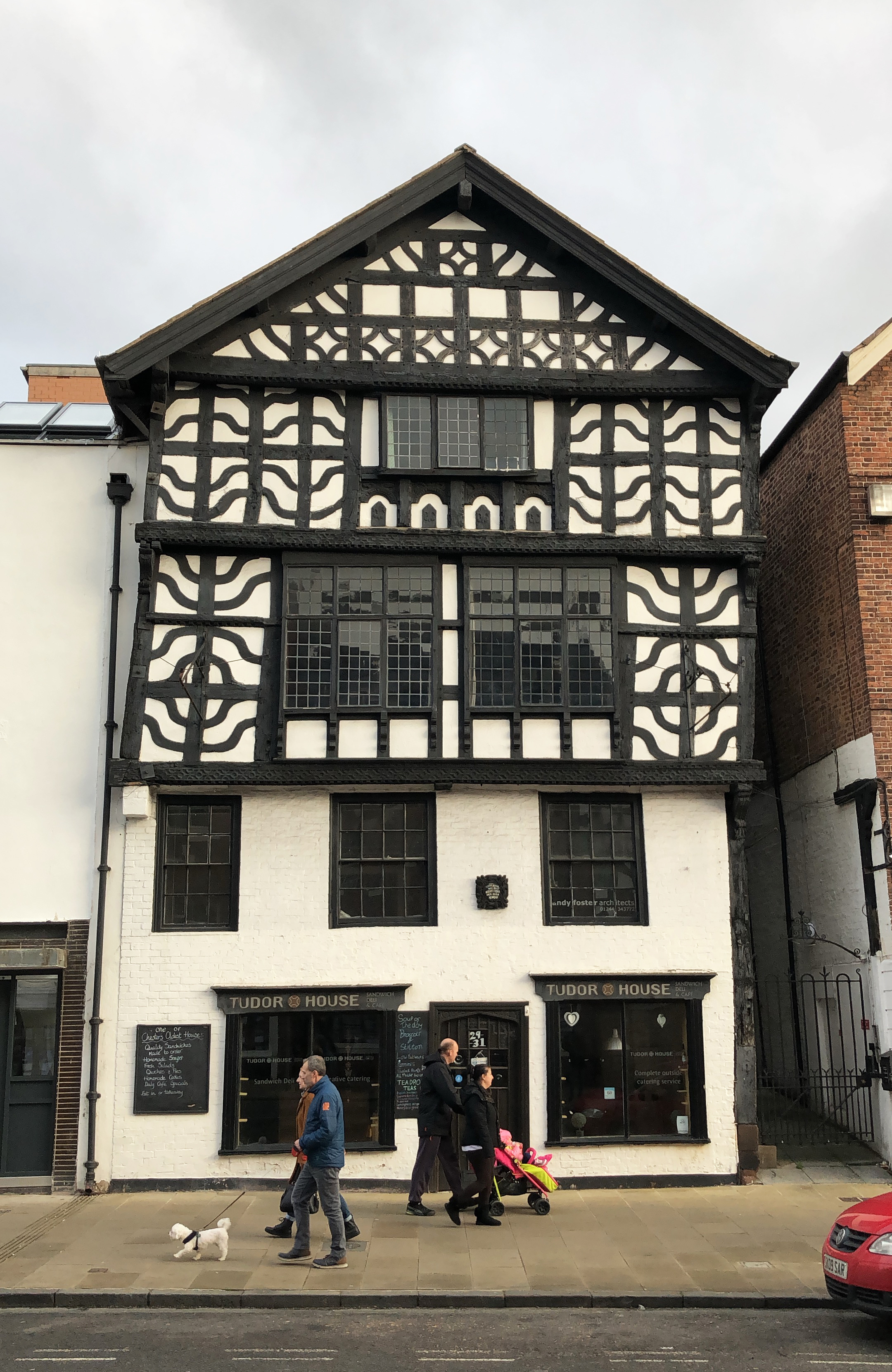 one of the amazing facades in chester, uk!