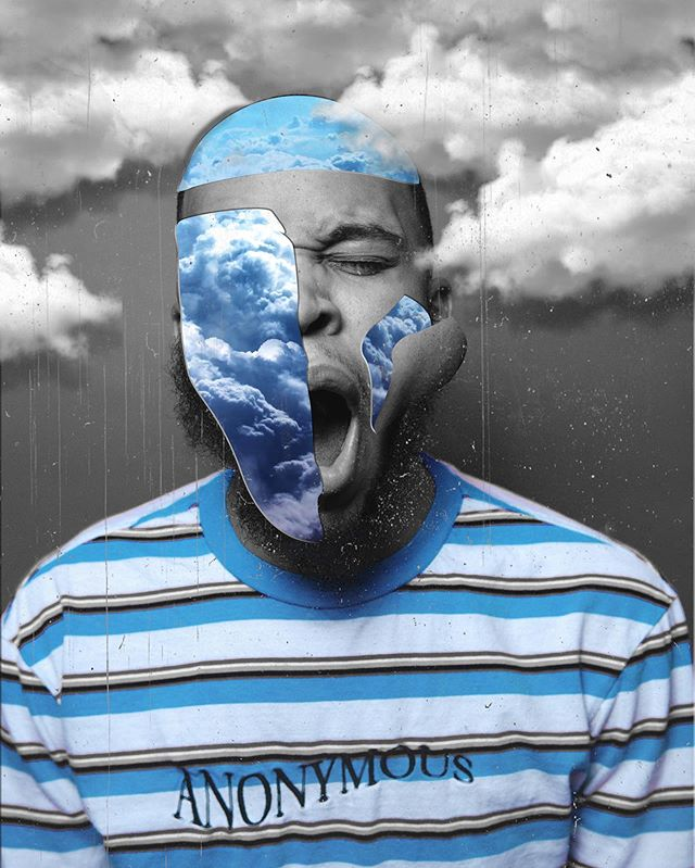 Daydreaming on a Monday ☁️ #photoshop #creativephotography #milliondollarvisuals #nikond5100 #baltimorephotographer #blackcreatives #blackphotographer #monday #selfportrait