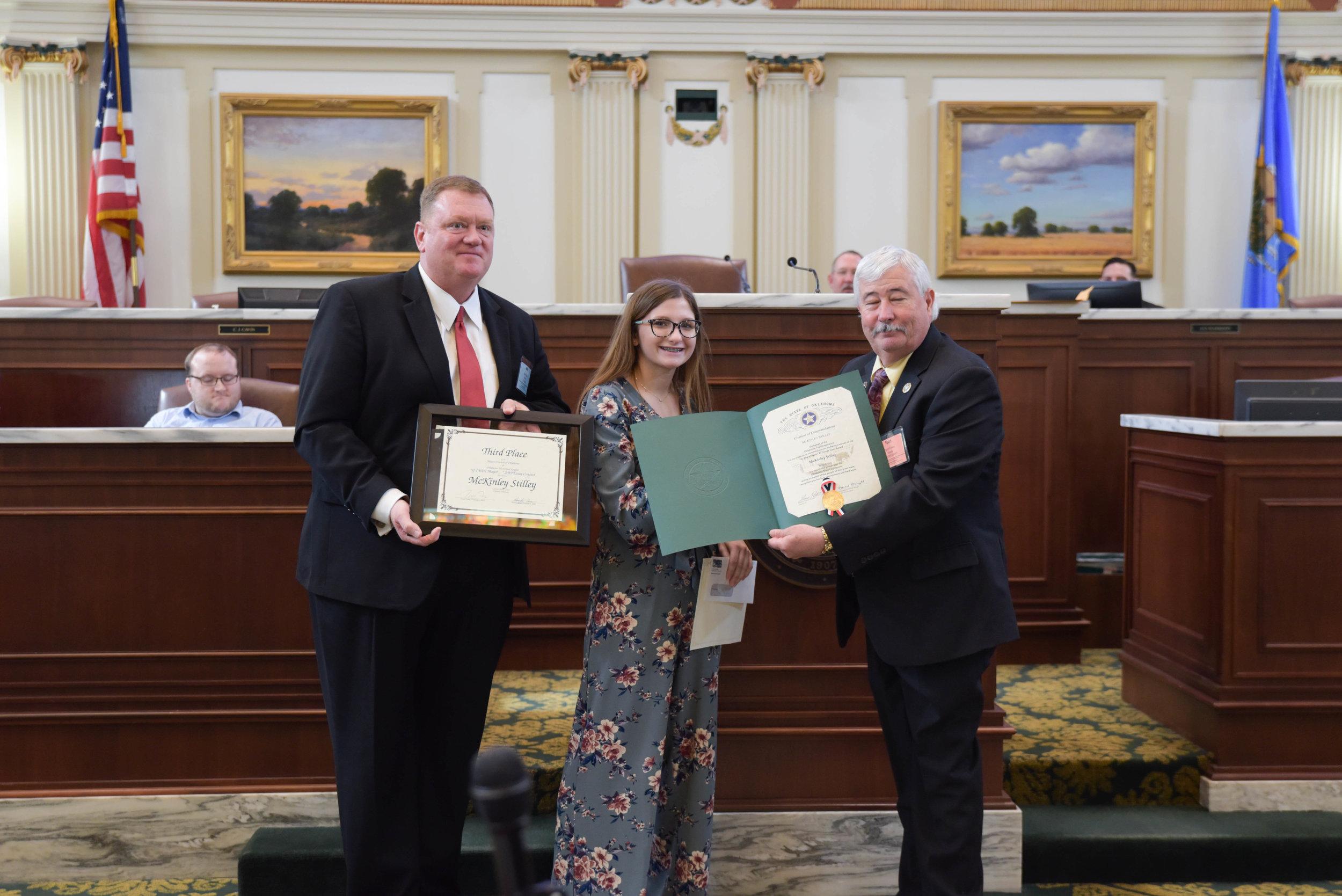 El Reno Mayor Matt White, McKinley Stilly, MCO President Todd Finley