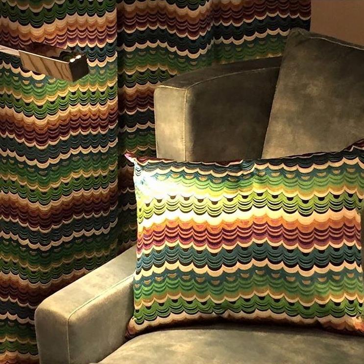 Osborne & Little cushion and fabrics