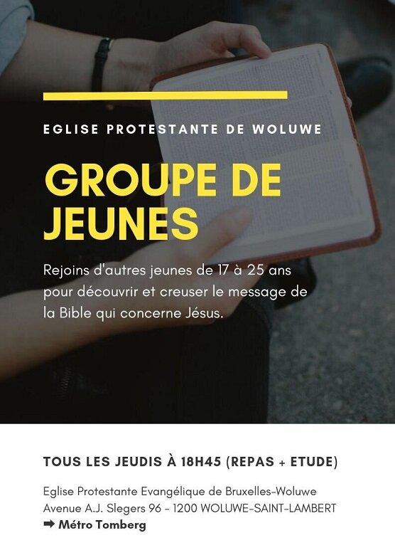 Groupe de jeunes Bruxelles flyer recto