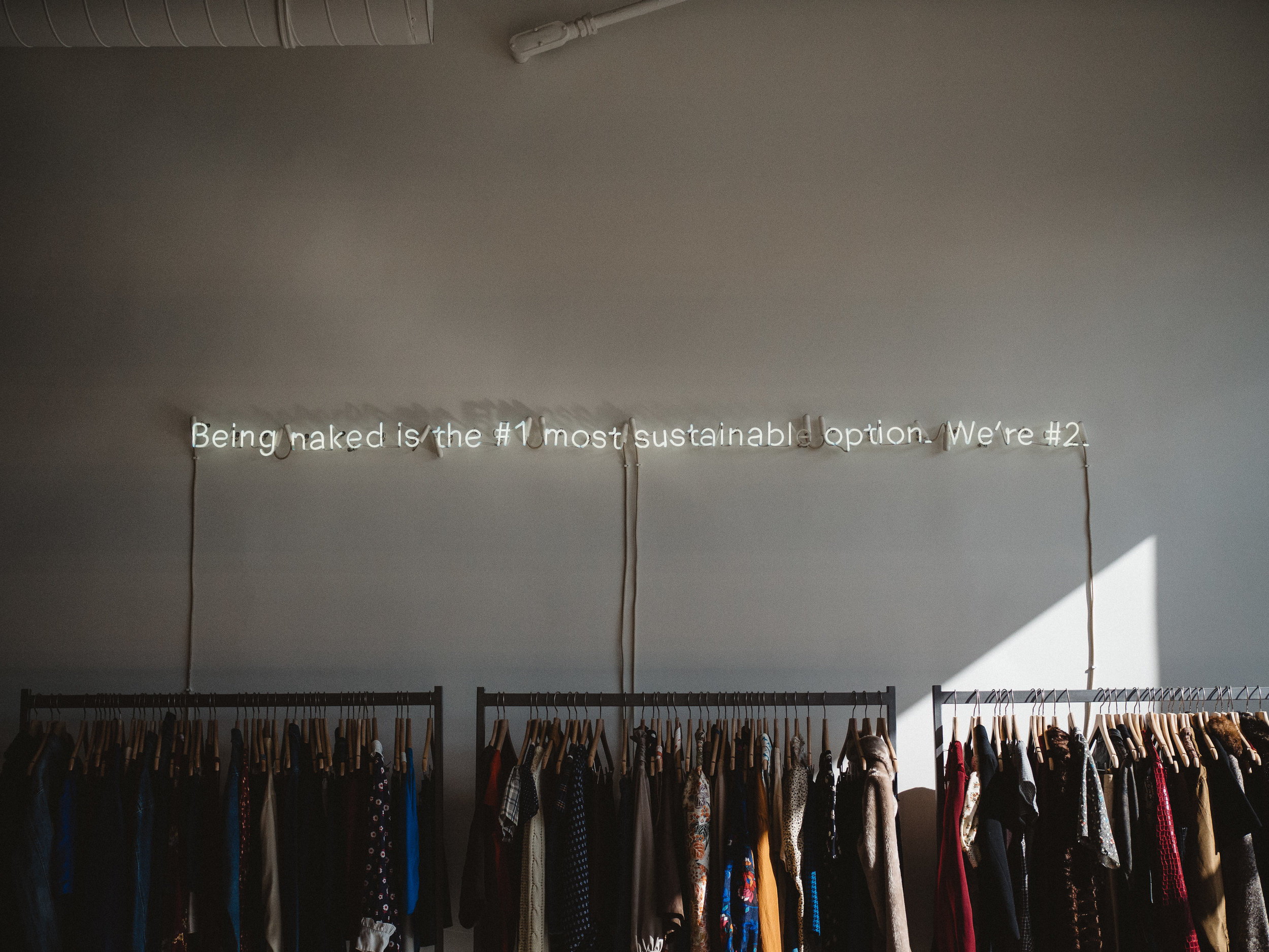 second hand shopping is sustainable