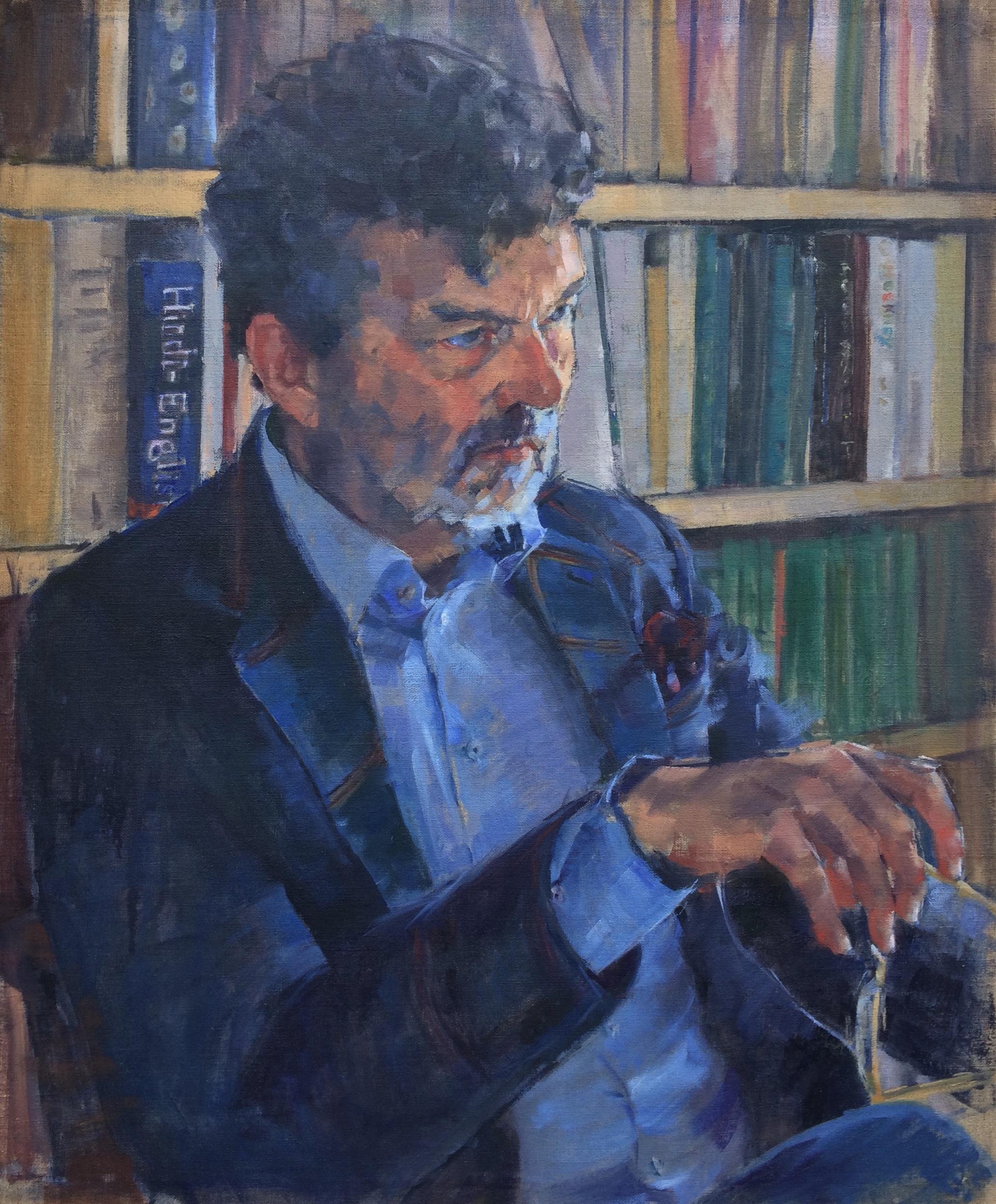 The Writer  Oil on Linen
