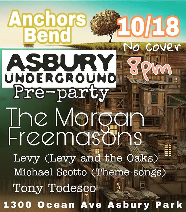 @asburyunderground @theanchorsbend ・・・ Gonna be a great weekend for music in Asbury. Come kick things off with @themorganfreemasons Friday at @theanchorsbend .  #themorganfreemasons #asburyunderground #asburypark #asburyparkboardwalk #asburyparkmusic #localmusic #supportlocalmusic #njlivemusic