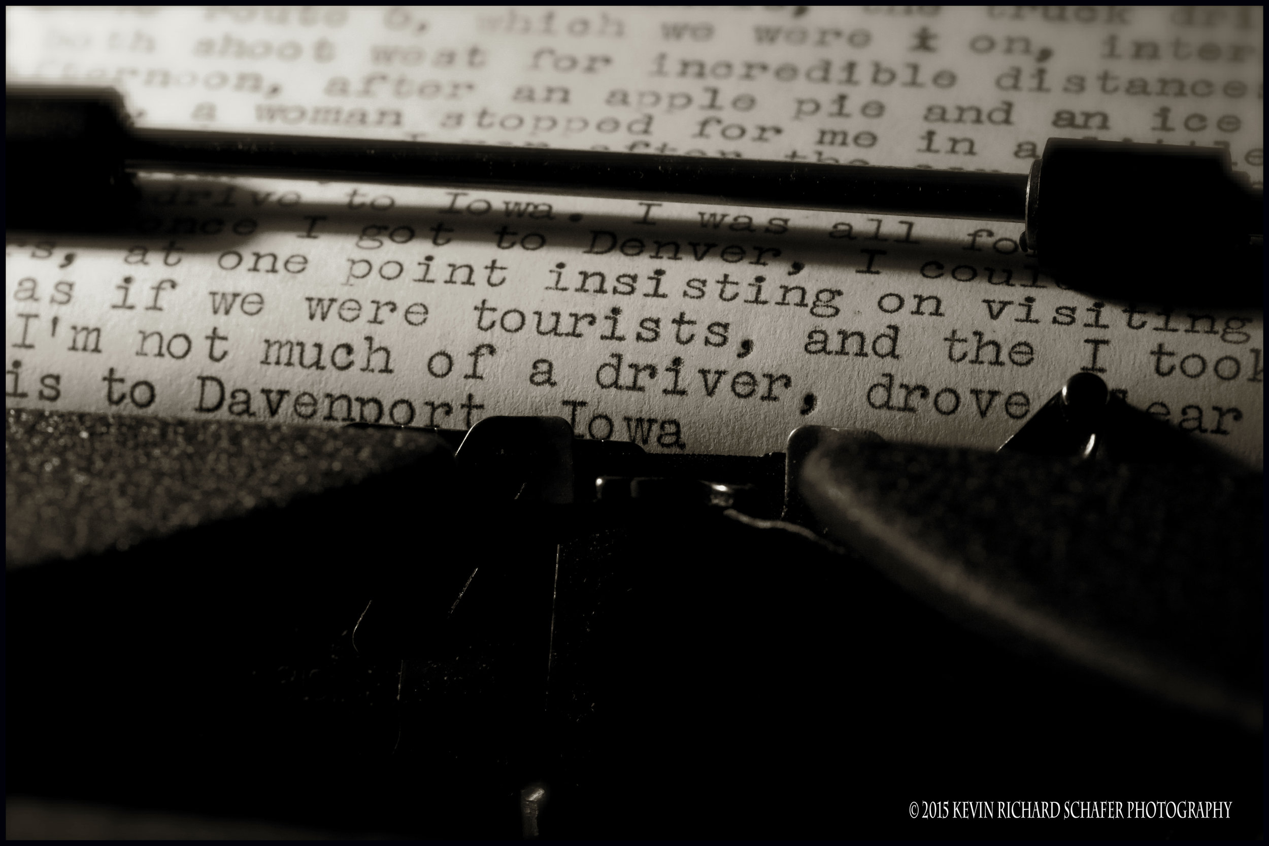 Promotional piece for the Source Bookstore. Words: Jack Kerouac. Typewriter: Mom.