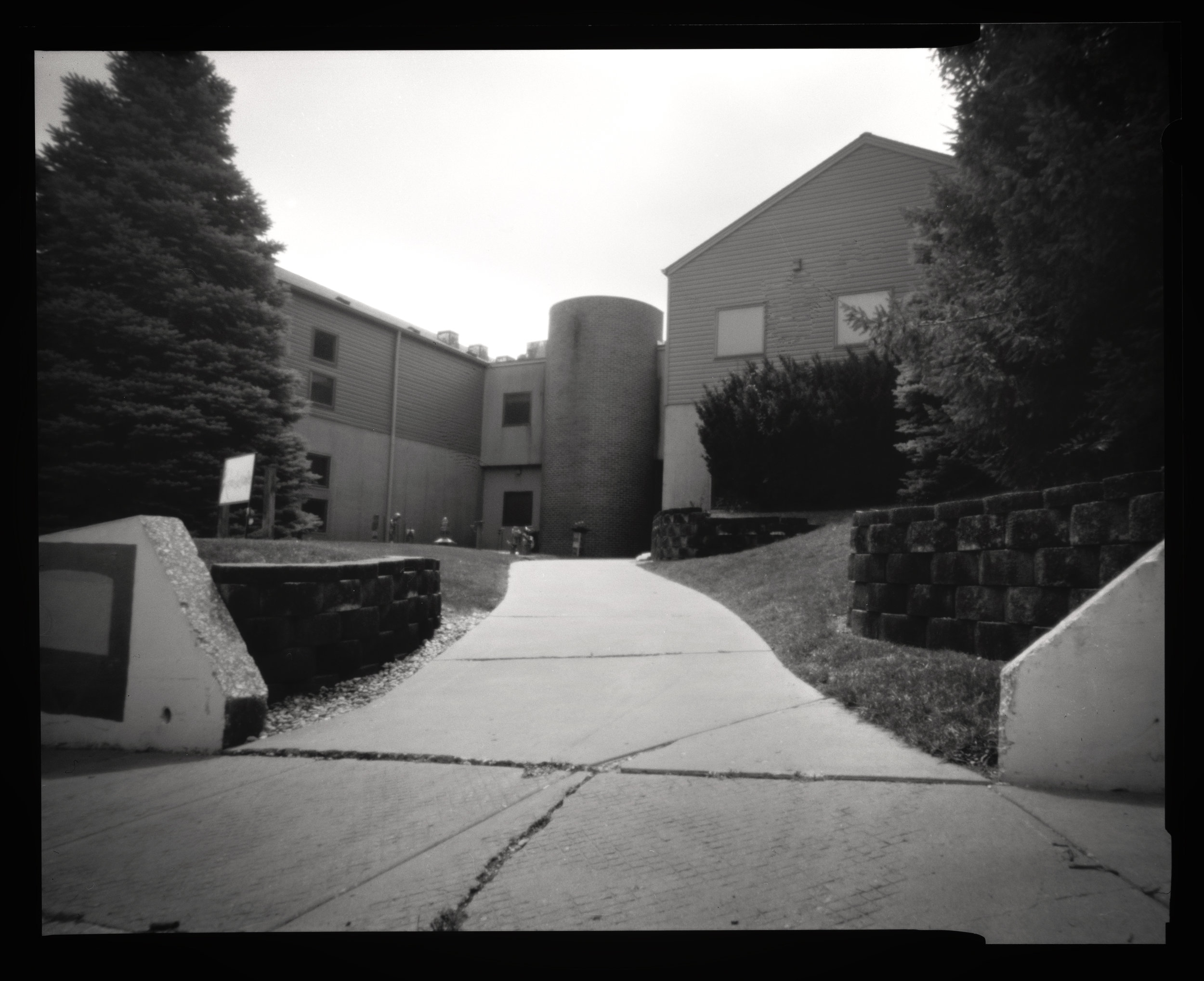 Pinhole Camera: New Art Studios Building, Augustana College Campus, Rock Island IL, 2017