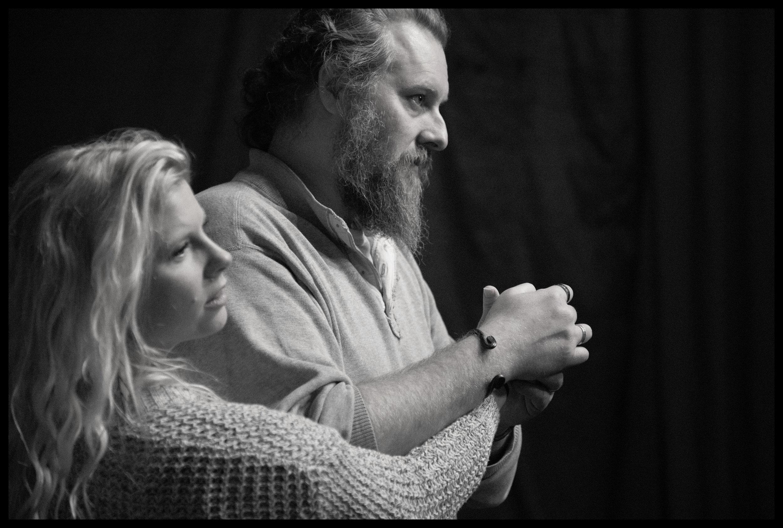Maggie Woolley and Aaron E. Sullivan,  Macbeth  (rehearsal)